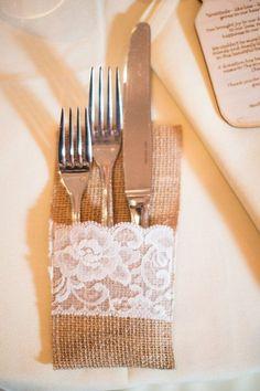 Burlap Wedding Table Idea