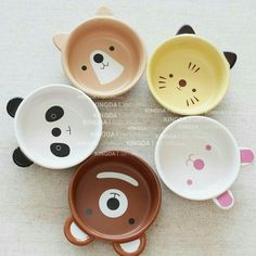 Special export Japanese ceramic tableware cute cartoon animal Bowl the Kawaii baby children Bowl suit-ZZKKO // tazas animales Ceramic Tableware, Ceramic Bowls, Ceramic Pottery, Ceramic Art, Kitchenware, Cerámica Ideas, Cute Cartoon Animals, Japanese Ceramics, Japanese Bowls