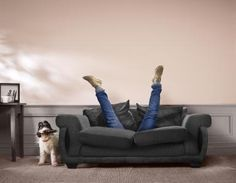 How To Use An Apple TV Without Your Apple TV Siri Remote: Don't be like this poor guy falling down the back of his sofa searching for the remote control his dog's been hiding – put a plan together today and it'll be OK!