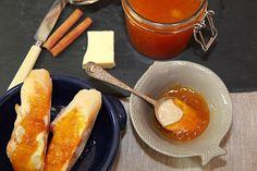 Dýně a skořice je portugalskou konpirací chutí Pretzel Bites, Preserves, Sausage, French Toast, Food And Drink, Pumpkin, Bread, Cheese, Homemade