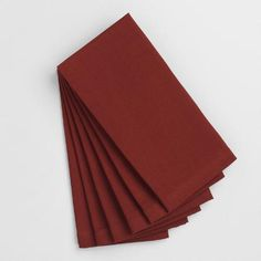 One of my favorite discoveries at WorldMarket.com: Henna Red Buffet Napkins Set of 6
