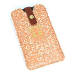 iphone case peach lace