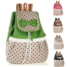 HOT 2014 Printing Backpack Women Bow Fashion Mochilas School Bags for Teenage Girls Canvas Sexy Cute String Rucksacks Knapsacks-inBackpacks ...