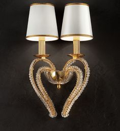 Luxury Gold Plated Swarovski Crystal Double Wall Light