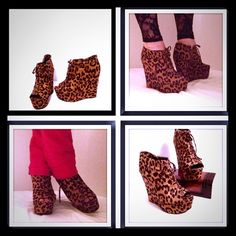Brand New Leopard Print Sexy Wedges New never been worn. These are such sexy shoes,! This is the final price drop and worth more  Forever 21 Shoes Heels