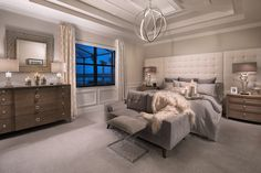 Do you think the decor is NEAT in this beautiful master SUITE? Neutral Bedrooms, New Home Communities, New Homes For Sale, Master Bedroom, Master Suite, House Rooms, My Room, Home Interior Design, Home Projects