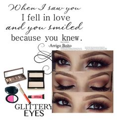 """""""glittery eyes"""" by sabina-mehic ❤ liked on Polyvore"""