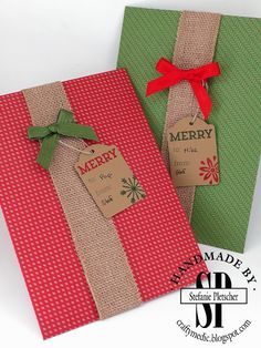 The Crafty Medic: Getting a head start... - Stampin' Up! envelope punch board…