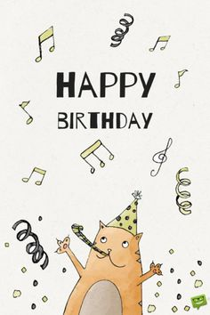 Our collection of happy birthday pictures can be a source of inspiration for your own wishes and an affectionate introduction to a friend's special day. Happy Birthday Teacher, Happy Birthday Music, Happy Birthday Printable, Happy Birthday Child, Birthday Blessings, Birthday Wishes Cards, Happy Birthday Greetings, Birthday Quotes, Happy Birthday Drawings