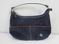 Ralph Lauren Women's Blue Denim Small Purse Handbag #RalphLauren #EveningBag