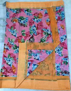 online womens traditional sarees Floral Print Sarees, Printed Sarees, Floral Prints, Kota Silk Saree, Handloom Saree, Elegant Fashion Wear, Trendy Fashion, Designer Silk Sarees, Traditional Sarees