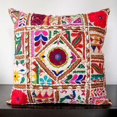 @Overstock.com - Cala Red Embroidered 18x18-inch Decorative Pillow - This one of a kind pillow will be the perfect accessory to add that finishing touch to your decor. Whether you want a splash of color or a subtle accent, this decorative pillow is the perfect choice.  http://www.overstock.com/Home-Garden/Cala-Red-Embroidered-18x18-inch-Decorative-Pillow/7735764/product.html?CID=214117 $44.99