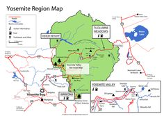 9 best Yosemite National Park - Maps images on Pinterest | National ...