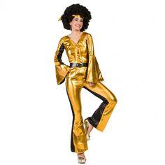 Déguisement Disco doré pour femme #costumespouradultes #nouveauté2017