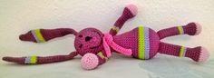 "Amigurumi rabbit ""Rozina"" Amigurumi Toys, Crochet Necklace, Rabbit, Jewelry, Bunny, Rabbits, Jewlery, Jewerly, Bunnies"