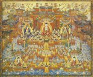 Pure land of Amithaba Om Mani Padme Hum, Pure Products, Illustration, Painting, Image, Illustrations, Painting Art, Paintings