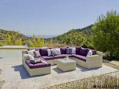 Superbe salon de jardin HORIZON très design en résine tressée par ...