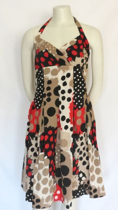 Moschino Cheap and Chic Patterned Halter Dress