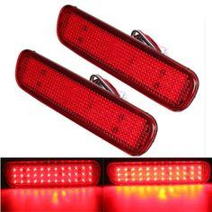 [US$19.98] Pair LED Brake Tail Light Rear Bumper Reflector Fog Light For Toyota Land Cruiser Lexus LX470  #brake #bumper #cruiser #land #lexus #light #lx470 #pair #rear #reflector #tail #toyota