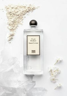 Serge Lutens Clair de Musc : Cold and quiet white musk. I love it. The amazing iris blooms as soon as it hits my skin. Will purchase a full bottle once I run out of my sample.