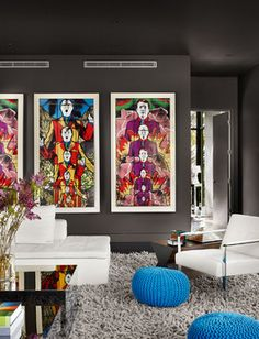 Pop art is an art movement that emerged in the s in Britain and in the late 1950 s in the United States. Pop art presented a challenge to Decor, Room Design, House Redesign, Home Decor, House Interior, Interior Art, Room Colors, Living Room Designs, Modern Pop Art
