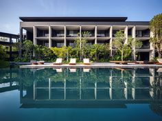 Image 1 of 41 from gallery of Retreat Hotel / Research Studio Panin. Photograph by Spaceshift Studio Great Buildings And Structures, Modern Buildings, Outdoor Swimming Pool, Swimming Pools, Classical Architecture, Landscape Architecture, Minimalist Architecture, Ancient Architecture, Residential Architecture