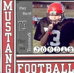 Mustang Football Page 1 - Scrapbook.com