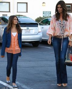 Picture perfect: Cindy Crawford and her daughter Kaia were the spitting image of one another as they headed to Nobu Malibu for some sushi