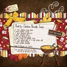 recipe scrapbook idea layouts | Scrap your delicious memories - Simple Scrapper