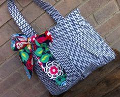 The Rae Tote- Fabric Tote/Handbag/Hobo/Purse. $40.00, via Etsy.