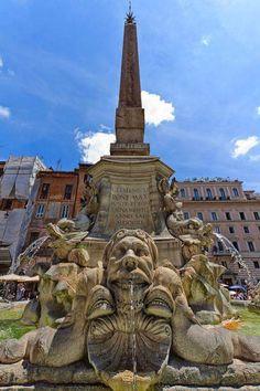 Fontana del Panthéon, Roma, Italia