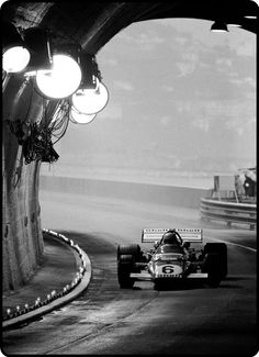 1971 Mario Andretti pilots his #Ferrari into the tunnel. #F1 #Monaco GP    What a nice image I've never seen this Image before!