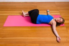Stop and Stretch! Great stretch for the lower AND mid back. I can actually feel and hear my spine pop when I do this