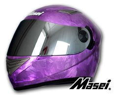 Masei Purple Ice Chrome 830 Full Face Motorcycle Helmet Free Shipping