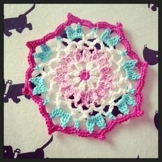 Crochet coaster. Onderzetter haken.