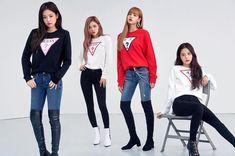 "Blackpink For Guess X Lotte Korea ""Wherever Guess"" 2018 Blackpink Fashion, Fashion Outfits, Womens Fashion, Yg Entertainment, Jenny Kim, Blackpink Funny, Blackpink Photos, Jennie Blackpink, Outfits"