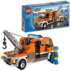 7638 Tow Truck with David Anderson Lego Truck, Tow Truck, Fire Trucks, Lego City Sets, Lego Sets, Legos, Modele Lego, Micro Lego, Lego City Police