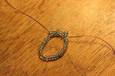 Posts about Oglala stitch written by beadnfun Ruffle Beading, Peyote Stitch, Beaded Rings, Bead Crochet, Turquoise Necklace, Beads, Jewelry, Patterns, Ruffles