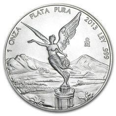 2013 1 OZ .999 FINE SILVER MEXICAN LIBERTY silver coin Bullion BU BEAUTIFUL