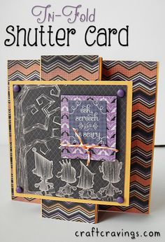 Tri-Fold Shutter Card (Tutorial) using DCWV Spooky Time Stack