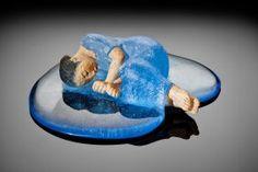 made by: Masayo Odahashi - Glass art Modern Art, Puppetry, Sculpture Art, Ceramics, Art Corner, Painting, Sculpture, Art, Glass Art