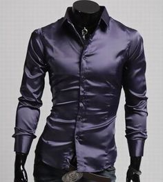 Cheap shiny mens shirt, Buy Quality brand men shirts directly from China camisa masculina Suppliers: 2014 New Brand Classic Casual Faux Silk Shiny Mens Shirts Fashion Long-sleeve Slim Fit Social Camisas Masculinas M-XXL Business Fashion, Business Casual, Top Casual, Casual Summer, Satin Shirt, Thing 1, Workout Shirts, Types Of Sleeves, Shirt Style