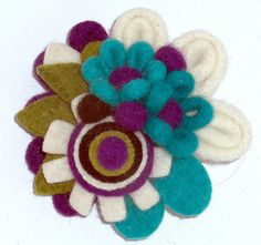 felt brooch by woolly  fabulous, via Flickr