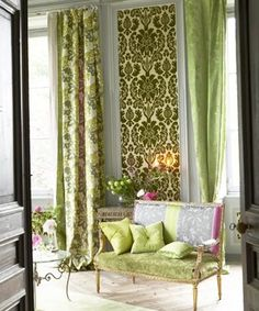 Designer Guild has a great selection of lush, vibrant fabrics for furniture upholstery and drapery.     Established in 1970 by Tricia Guild, Designers Guild designs and wholesales furnishing fabrics, wallcoverings, upholstery and bed and bath collections worldwide.    http://www.designersguild.com/