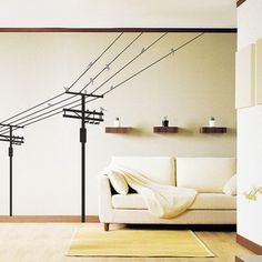 Fange Removable Telephone Poles Electric Poles and Birds Repositional Art Mural Vinyl Wall Stickers Livingroom Decor Bedroom Decal Sticker Wallpaper Decoration Stickers, Wall Stickers Murals, Wall Mural, Window Stickers, Bird Wall Decals, Vinyl Wall Art, Vinyl Decals, Do It Yourself Design, Removable Wall Stickers