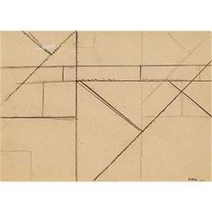 Helmut Federle, circa 1978 pencil on paper 8.25 h x 11.5 w inches