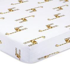 jungle jam - giraffe classic crib sheets   aden + anais USA
