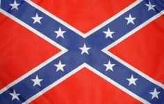 "Rebel 12""x18"" sleeved flag."