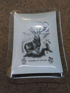 Glass Pin Tray Ash Tray Souvenir Plate Monarch Of The Glen  | eBay