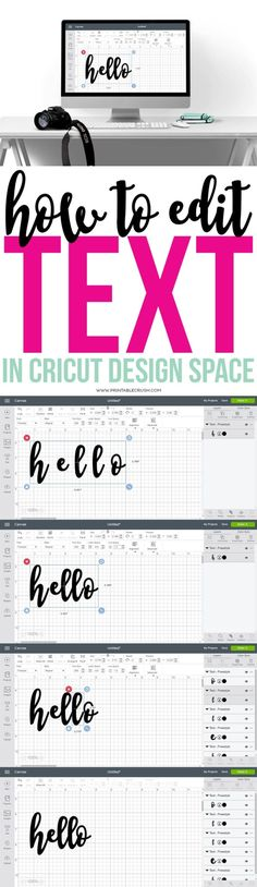 Learn how to edit text in Cricut Design Space with this simple tutorial. Once you know how this, you'll be able to create gorgeous word art in design space! by sherrie